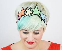 sparkly hair glitter pastel rainbow headband basil s boutique