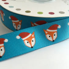 fox ribbon christmas ribbon creative craft supplies for buttons die cut