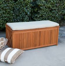 Waterproof Patio Storage Bench by Outdoor Handsome Outdoor Patio Storage Bench Box With Cushion