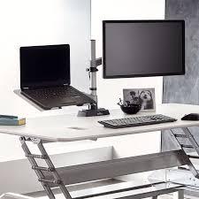 Laptop Desk Arm Standing Desk Varidesk Monitor Arm And Laptop Cradle Cers And