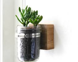 wall mounted mason jar planters craft workshop