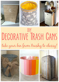 diy decorative trash cans