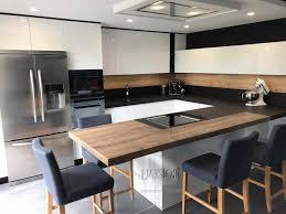 cuisine noir mat et bois mat deco bois fraisstunning cuisine noir mat et bois contemporary