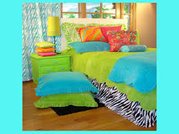 pink and green girls bedding teen turquoise zebra bedding