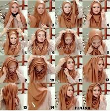 simple hijab styles tutorial segi empat cara memakai jilbab segi empat kreasi modern