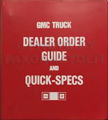 1986 gmc service policies and procedures manual original