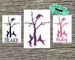 bluetick coonhound decals coon hunting decal treeing dog coonhound coon raccoon redtick