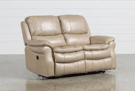 Loveseat With Recliner Salinger Sand Power Dual Reclining Loveseat Living Spaces