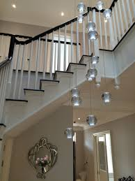 air bubble long stairwell chandelier