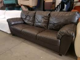 Pre Owned Chesterfield Sofa by Brown Leather Three Seater Sofa In Newcastle Tyne And Wear