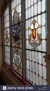 stained glass window inside the dunedin railway station dunedin