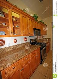 modern wood kitchen cabinets royalty free stock images image
