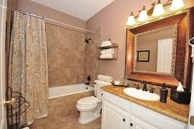 Tiny Bathroom Colors - brown tile bathroom paint home design ideas