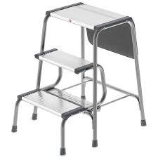 hailo usa inc 3 step aluminum folding step stool with 330 lb