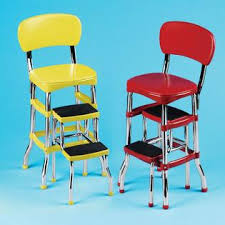 Cosco Bar Stool Cosco Retro Counter Chair Step Stool Red