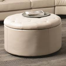 Large Storage Ottoman Coffee Table Round Tufted Storage Ottoman Coffee Table Rolling