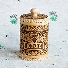 buy kitchen canisters to buy russian birch bark kitchen jars for tea and coffee in