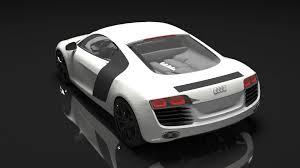 Audi R8 White - 3d model audi r8 white cgtrader