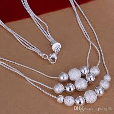 beaded pendant necklace designs images 2018 fashionable charms smooth frosted beaded pendants necklaces jpg