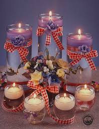 decor mind blowingly flower in the water candle centerpieces for