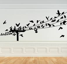 bird decal birds on a wire wall art bird decor birds on