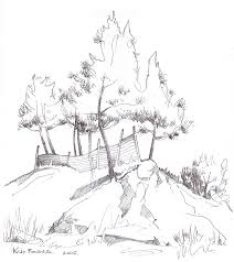 pine trees sketch by fetedieu on deviantart