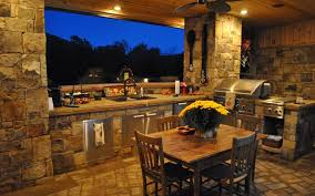Natural Wood Is Beautiful For Kitchen Cabinets But Make Sure To - Backyard designs with pool and outdoor kitchen