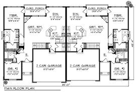 duplex house floor plans 59 duplex plans with garage and basement duplex house plans two