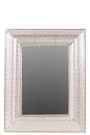 urban trends home decor metal wall mirror pierced polished silver products pinterest
