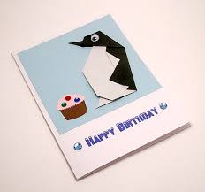 origami penguin birthday card a photo on flickriver
