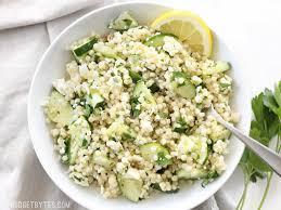 lemony cucumber couscous salad budget bytes