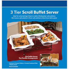 3 tier scroll buffet server sam u0027s club