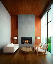 minimalist living room modern minimalist living room with glass fireplace and drum shape