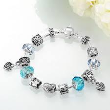 murano charm bracelet images Blue cristal murano charm bracelets women diy jewelry indian prata jpg