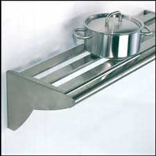 wall mounted shelf contemporary stainless steel for