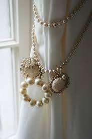 curtain tie back vintage pearl pink jewelry findings girls nursery