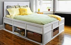 Build A Platform Bed With Storage Plans by How To Build A Storage Bed This Old House