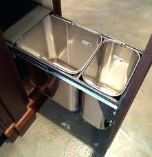 kitchen under counter trash can indoor trash cans slide out