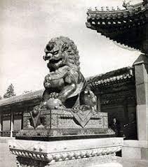 statue lions guardian lions