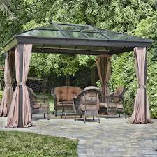 Gazebo Curtain Ideas by Outdoor Patio Gazebo For Sale Canopy Patio Wedding Party Backyard