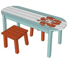 Plans To Build A Children S Picnic Table by Ana White Surf Board Coffee Table Bench Or Child U0027s Table Diy