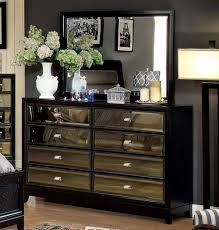 Black Mirrored Bedroom Furniture by Furniture Sumptuous Black Dresser With Mirror Bring Romantic