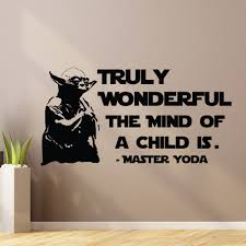 Serre Livre Geek Yoda Wall Decal Quote Truly Wonderful The Mind Of Child Is Star