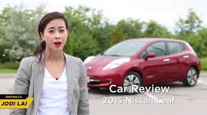 nissan leaf consumer reports car review 2015 nissan leaf driving ca youtube