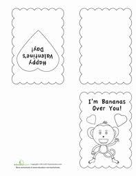 valentine u0027s day coloring cards worksheet education com