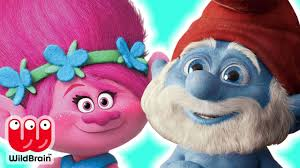 yes papa smurf and princess poppy from play doh play doh crafts