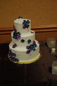 wedding cakes wi wedding cakes blue and purple flowers cake guru oshkosh wi