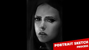 digital painting in photoshop portrait sketch process youtube