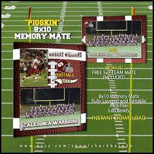 football sports memory mate template for photoshop by sharkbyte2k