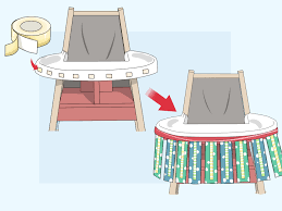 Baby Chair Clips Onto Table 3 Ways To Make A High Chair Tutu Wikihow